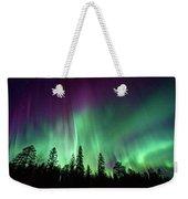 Aurora Boreale In Lapponia Weekender Tote Bag