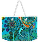 Aurora Borealis Green Weekender Tote Bag