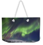 Aurora Borealis Over Blafjellet Weekender Tote Bag