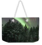 Aurora Borealis Over Finland Weekender Tote Bag