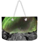 Aurora Borealis Over Iceland, Fisheye Weekender Tote Bag