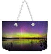 Aurora Borealis Over Lake Sinai Weekender Tote Bag