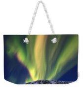 Aurora Borealis Over Toviktinden Weekender Tote Bag