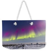Aurora Borealis Seen From Churchill Weekender Tote Bag