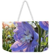 Aurora Light Purple Delphinium And Sunset No. 2 Weekender Tote Bag