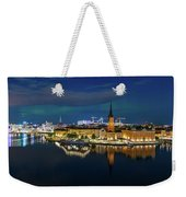 Aurora Over Stockholm In The Fall 2018 Weekender Tote Bag