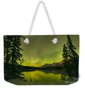Aurora Over The Forest Weekender Tote Bag