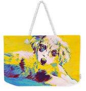 Aussie Puppy-yellow Weekender Tote Bag