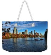 Austin Skyline From Lou Neff Point Weekender Tote Bag
