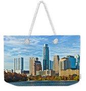Austin Skyline Panorama Weekender Tote Bag