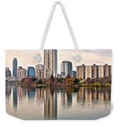 Austin Stretches Out Weekender Tote Bag