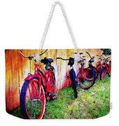 Austin Texas Bikes  -- Original Painting Weekender Tote Bag