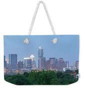 Austin Texas Building Skyline After The The Lights Are On Weekender Tote Bag