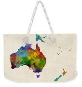 Australia Continent Watercolor Map Weekender Tote Bag