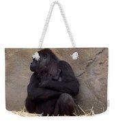 Australia - Baby Gorilla In Mums Arms Weekender Tote Bag