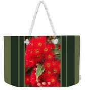 Australian Red Eucalyptus Flowers With Design Weekender Tote Bag