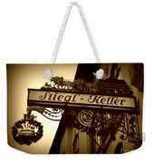 Austrian Beer Cellar Sign Weekender Tote Bag
