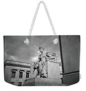 Authority Statue At The Courthouse In Memphis Tennessee Weekender Tote Bag