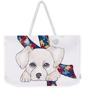 Autism Awareness And Puppy Love Weekender Tote Bag