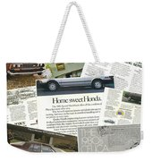 Auto  Ad's Collage 1 Weekender Tote Bag
