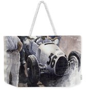 Auto Union B Type 1935 Italian Gp Monza B Rosermeyer Weekender Tote Bag by Yuriy Shevchuk