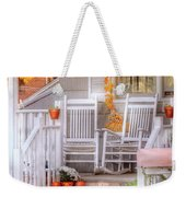 Autumn - House - My Aunts Porch Weekender Tote Bag by Mike Savad