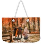 Autumn - People - A Walk In The Countryside Weekender Tote Bag