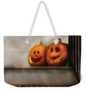 Autumn - Pumpkins - Two Goofy Pumpkins Weekender Tote Bag