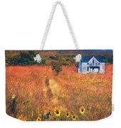 Autumn Abandoned House In The Prairie Weekender Tote Bag