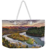Autumn Along The Snake River Weekender Tote Bag