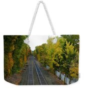 Autumn Along The Tracks Weekender Tote Bag