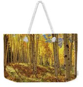 Autumn Aspen Forest Aspen Colorado Panorama Weekender Tote Bag