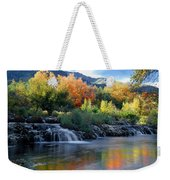 212m47-autumn At Cascade Springs  Weekender Tote Bag