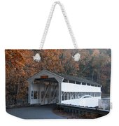 Autumn At Knox Covered Bridge In Valley Forge Weekender Tote Bag by Bill Cannon