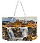 Autumn At Lundbreck Falls Provincial Park Weekender Tote Bag