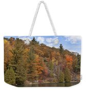 Autumn At Pink Lake Weekender Tote Bag