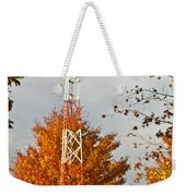 Autumn At The Airport Light Tower Weekender Tote Bag