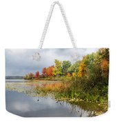 Autumn At The Lake In Nh Weekender Tote Bag