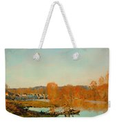 Autumn Banks Of The Seine Near Bougival Weekender Tote Bag