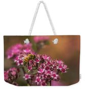Autumn Bee On Flowers Weekender Tote Bag