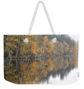 Autumn Birches On The Shore Of Lake Weekender Tote Bag