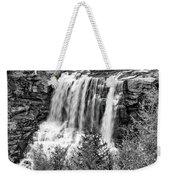 Autumn Blackwater Falls Bw Weekender Tote Bag