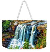 Autumn Blackwater Falls - Paint 3 Weekender Tote Bag