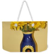 Autumn Blossoms And Blue Vase Weekender Tote Bag