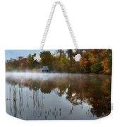 Autumn Boathouse Weekender Tote Bag