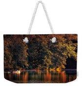 Autumn Boating At Argyle Lake Weekender Tote Bag