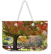 Autumn By The River On 105 Weekender Tote Bag