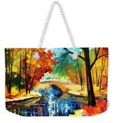 Autumn Calm 2 - Palette Knife Oil Painting On Canvas By Leonid Afremov Weekender Tote Bag