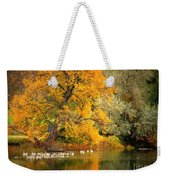 Autumn Calm Weekender Tote Bag