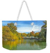 Autumn Central Park Lake And Boathouse Weekender Tote Bag